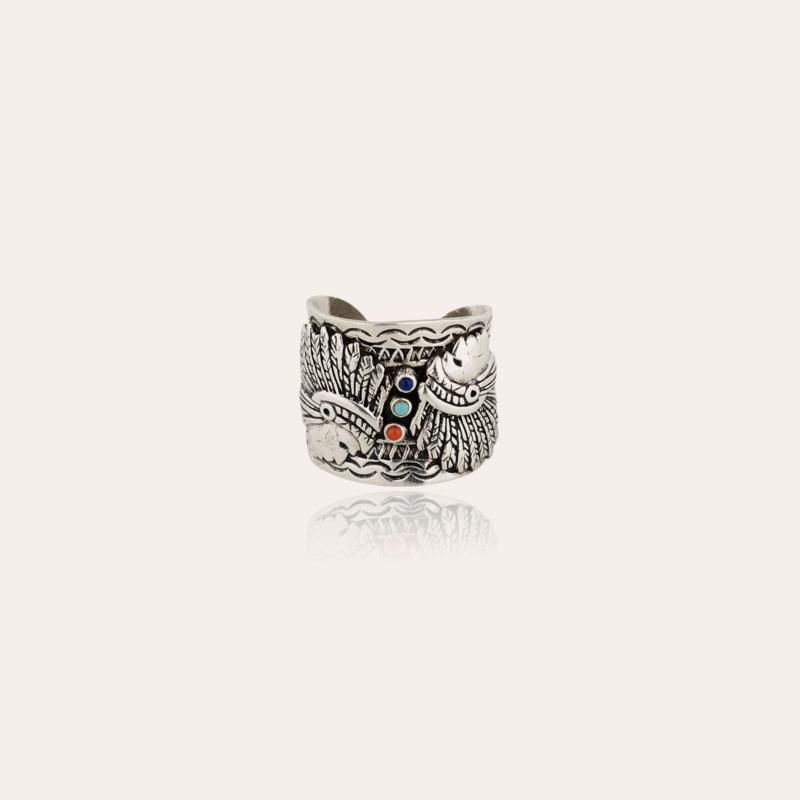 Santa Fe cabochons men ring silver