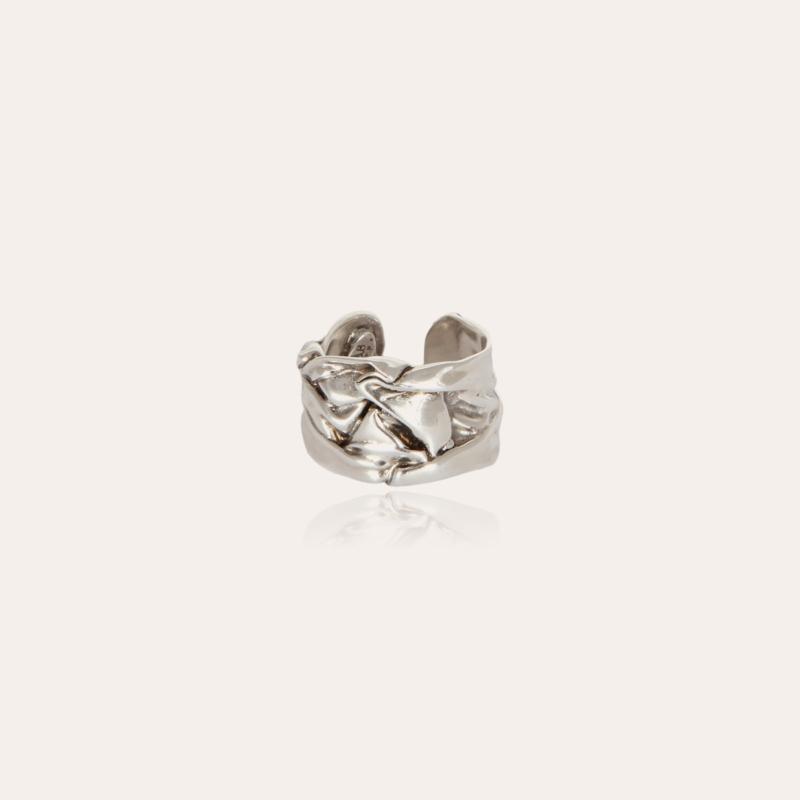 Compression men ring silver