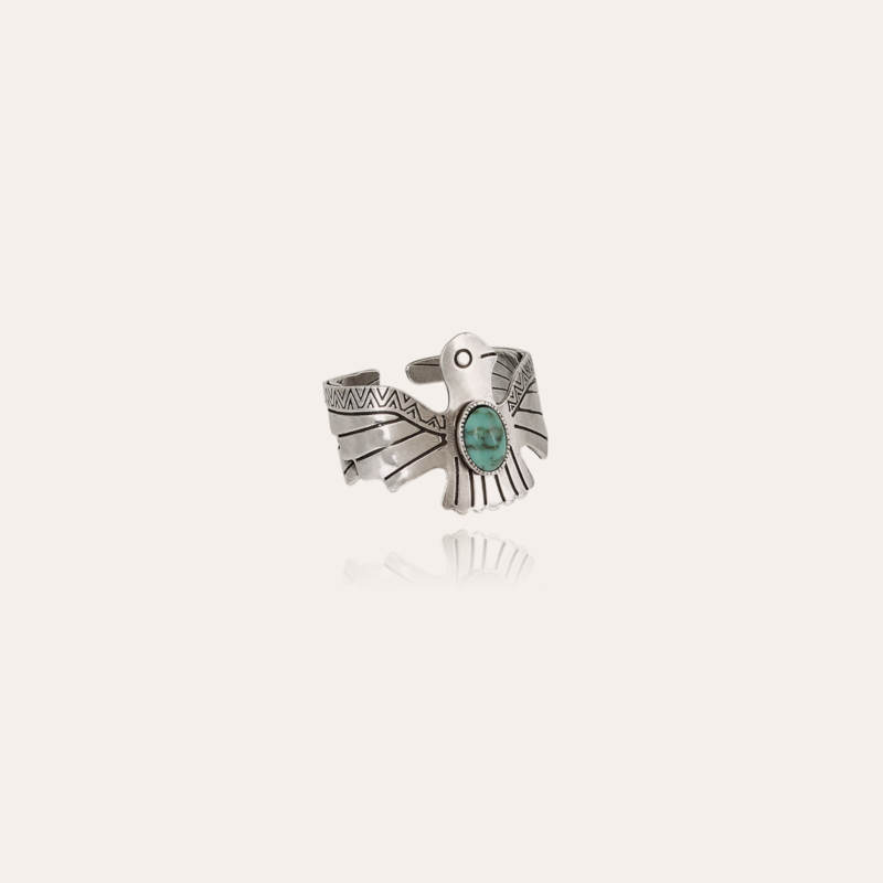 Eagle ring small size silver