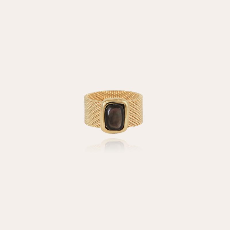 Totem Pierre ring large size gold