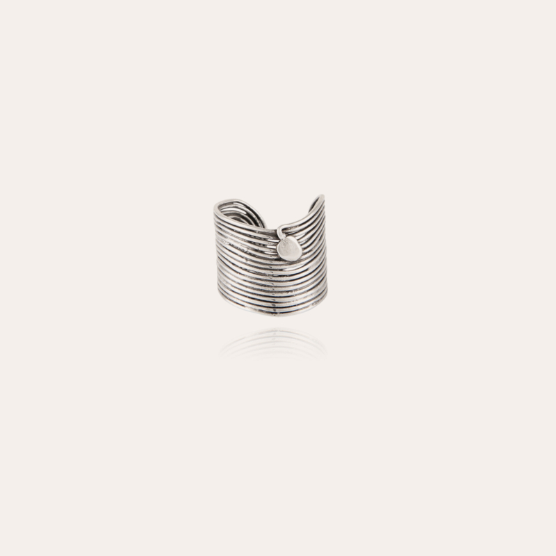 Wave ring silver