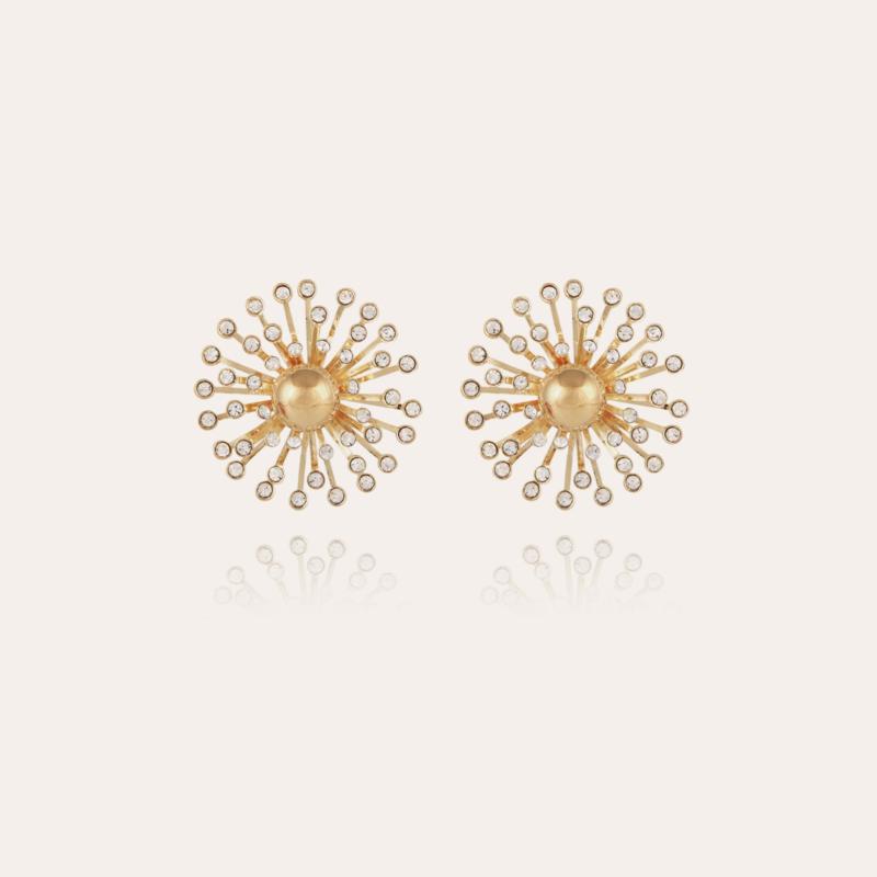 Strass earrings gold