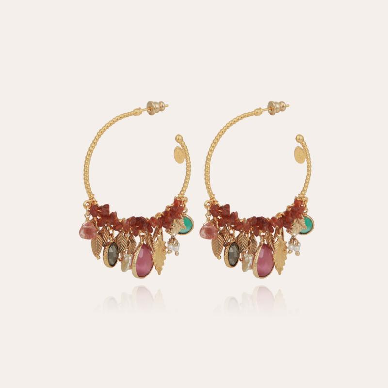 Anastasia hoop earrings mini gold - Exclusive piece (2 pieces)
