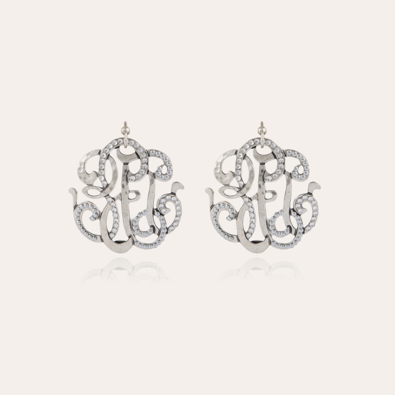 Arabesque earrings large size silver
