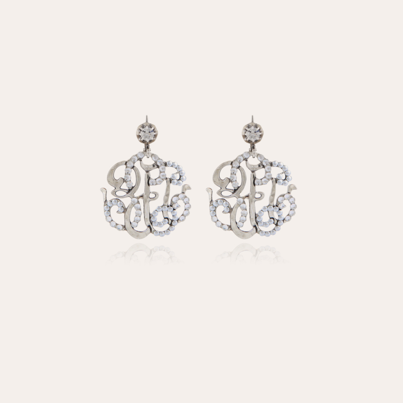 Arabesque earrings small size silver