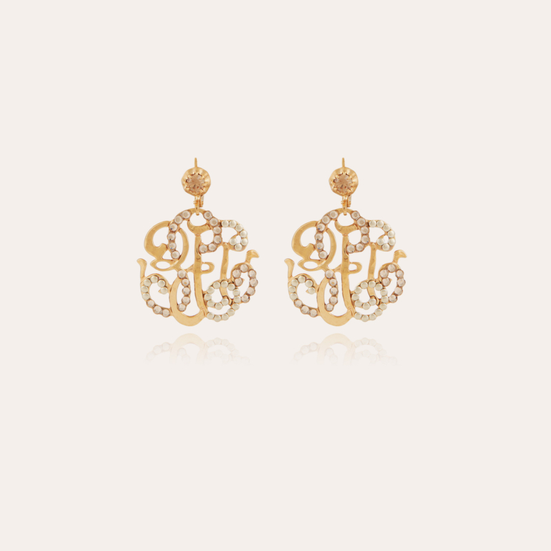 Arabesque earrings small size gold