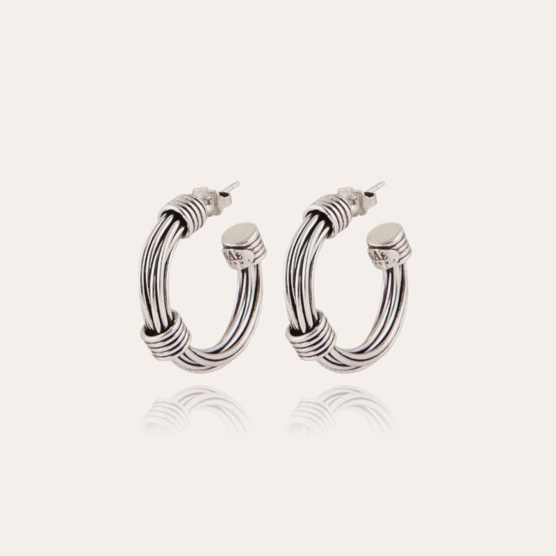 Ariane hoop earrings small size silver
