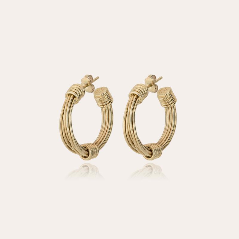 Ariane hoop earrings small size gold