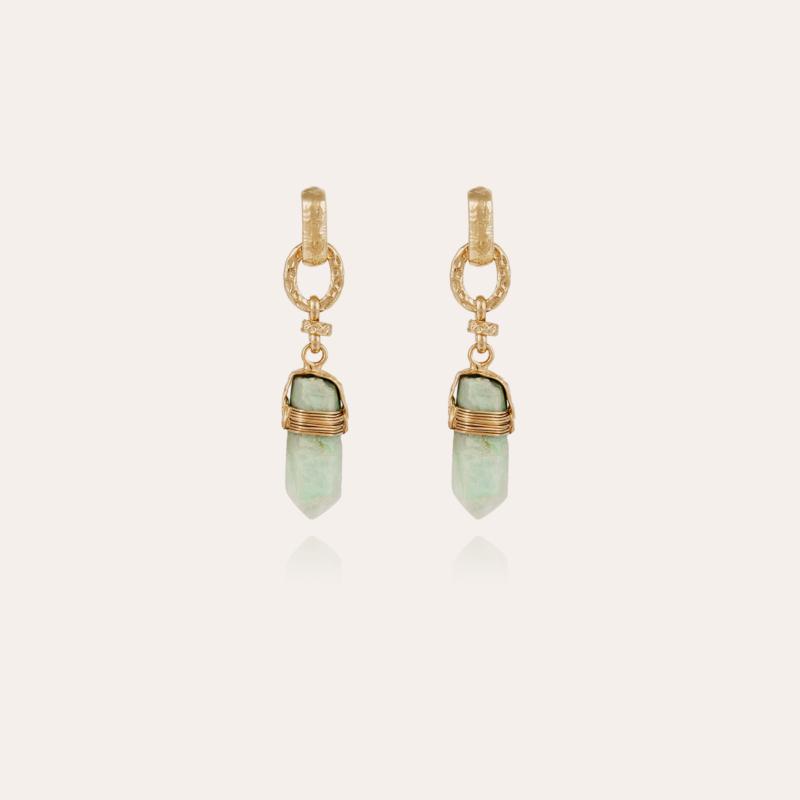 Aventura earrings gold - Fluorine
