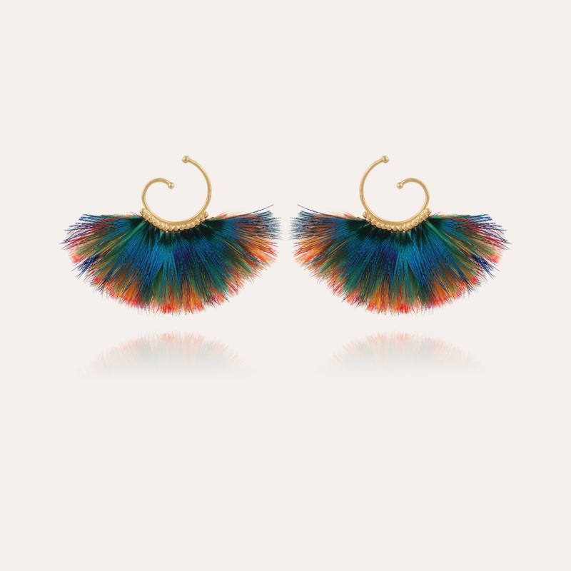 Buzios hoop earrings mini gold