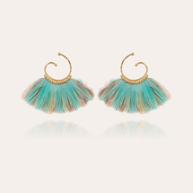 Buzios hoop earrings mini gold - Exclusive piece (3 pieces)