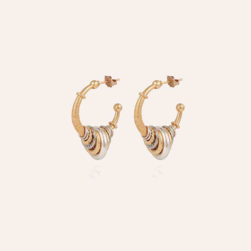 Maranzana hoop earrings small size bicolor