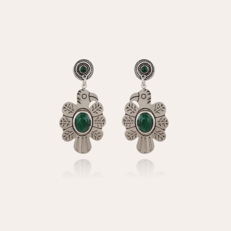 Eagle earrings small size silver