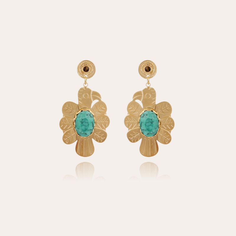 Eagle earrings large size gold