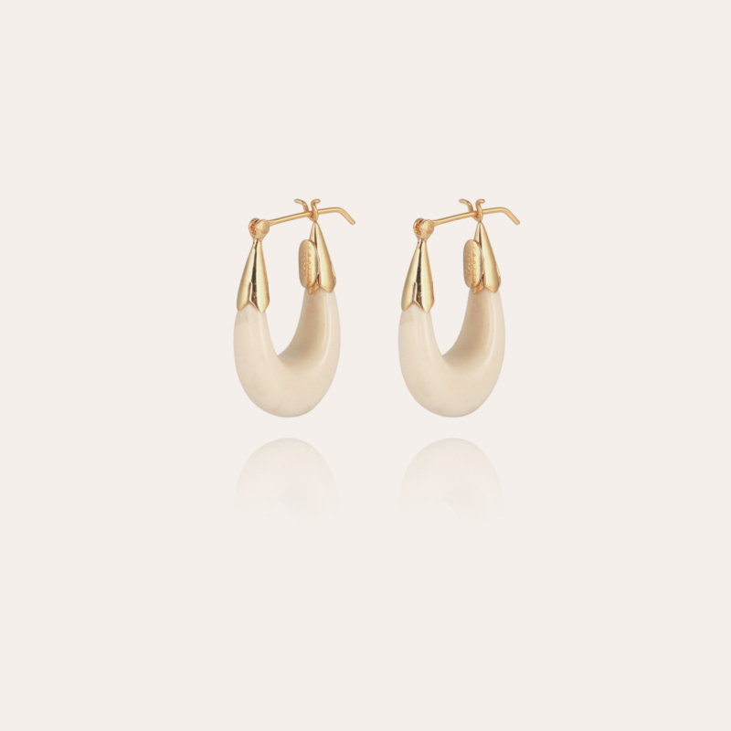 Ecume earrings small size gold - Ivory