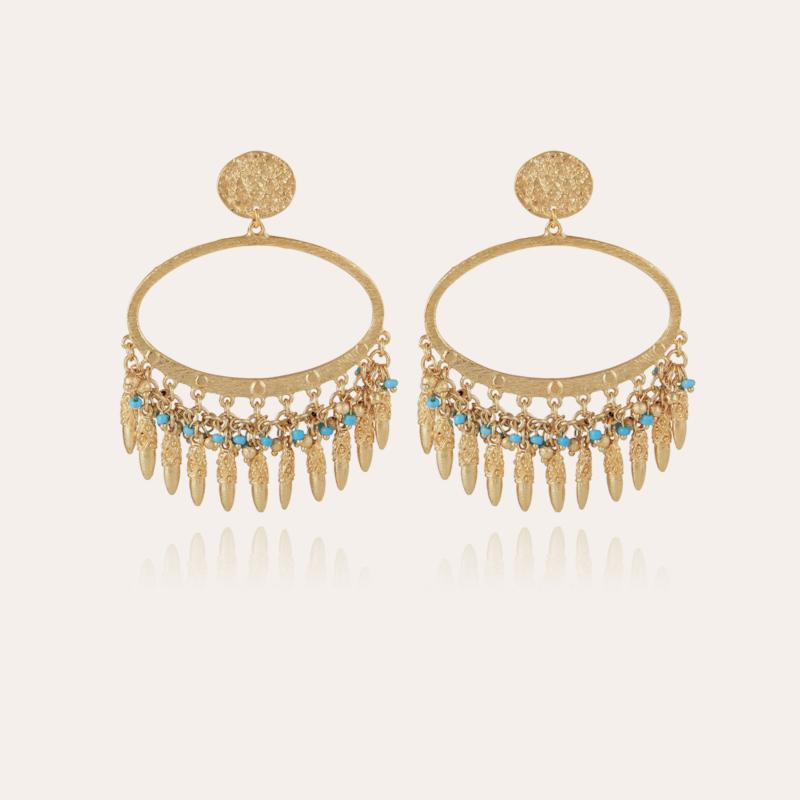 Fanfan tassels earrings gold - Exclusive piece (2 pieces)