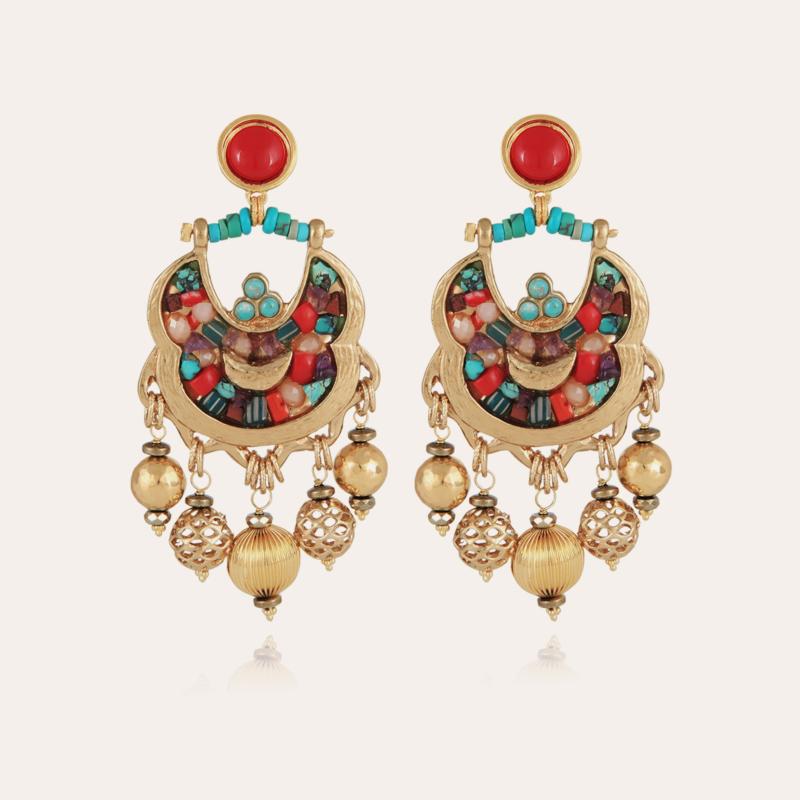 Havana earrings gold