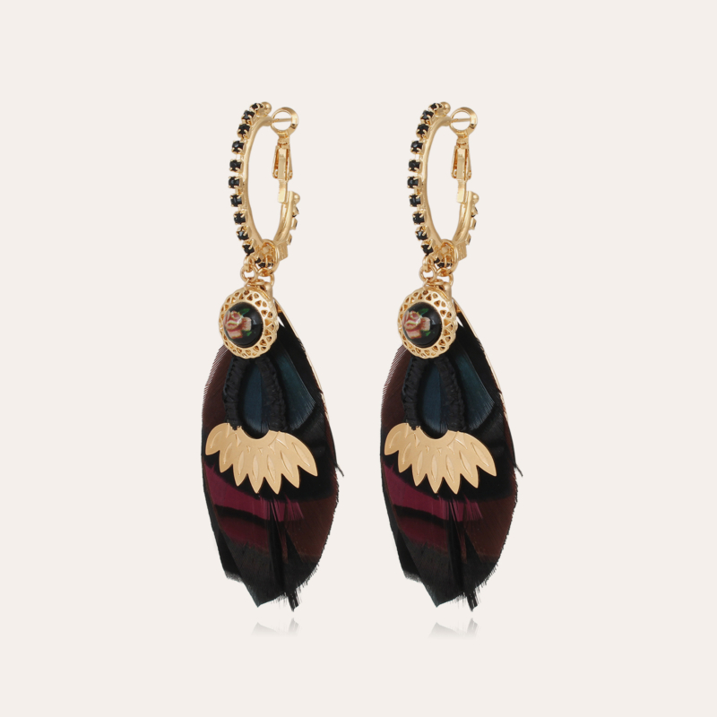 Icone Sao earrings large size gold - Exclusive piece (3 pieces)