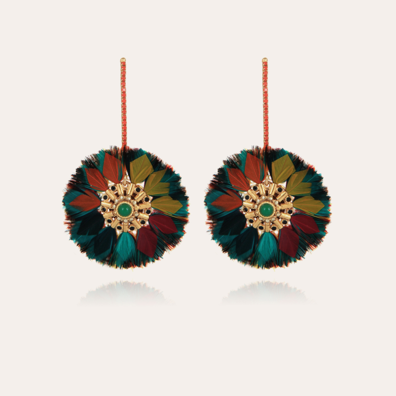 Icone Sun earrings gold - Exclusive piece (3 pieces)