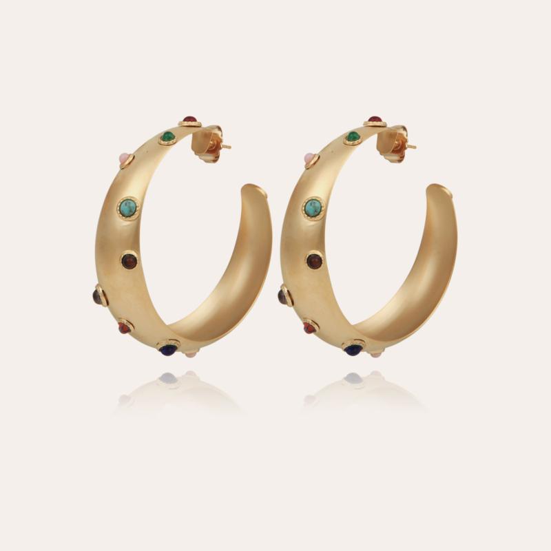Leontia hoop earrings large size gold