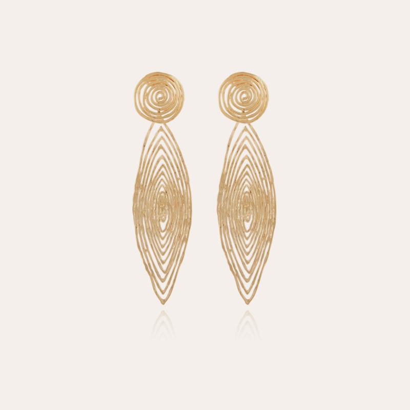 Longwave earrings small size gold