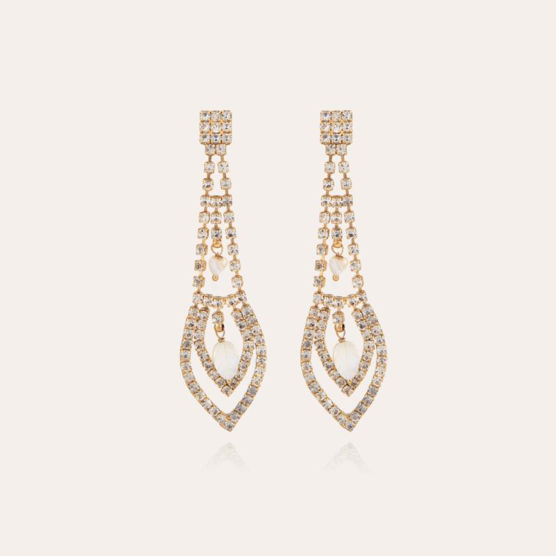 Lucia strass earrings gold