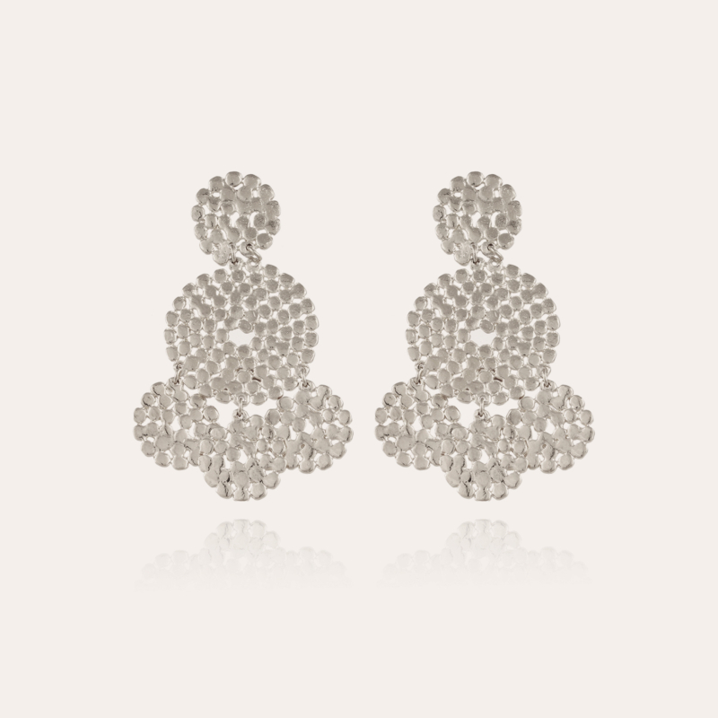 Lucky Sequin earrings small size silver