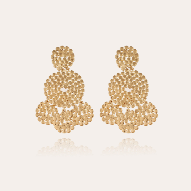 Lucky sequin earrings small size gold