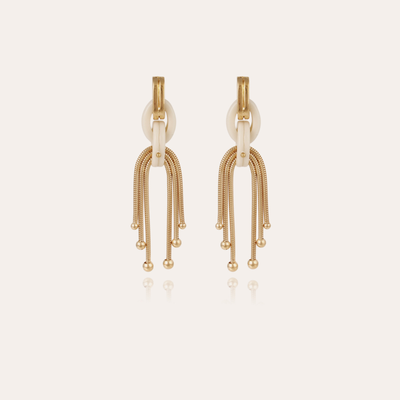 Mamba earrings gold