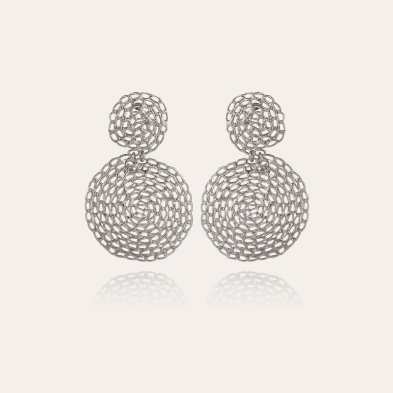 Onde Gourmette earrings small size silver