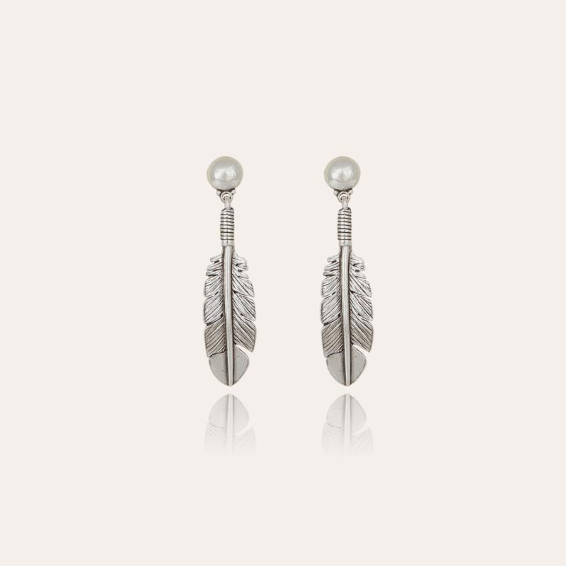 Penna men earrings silver