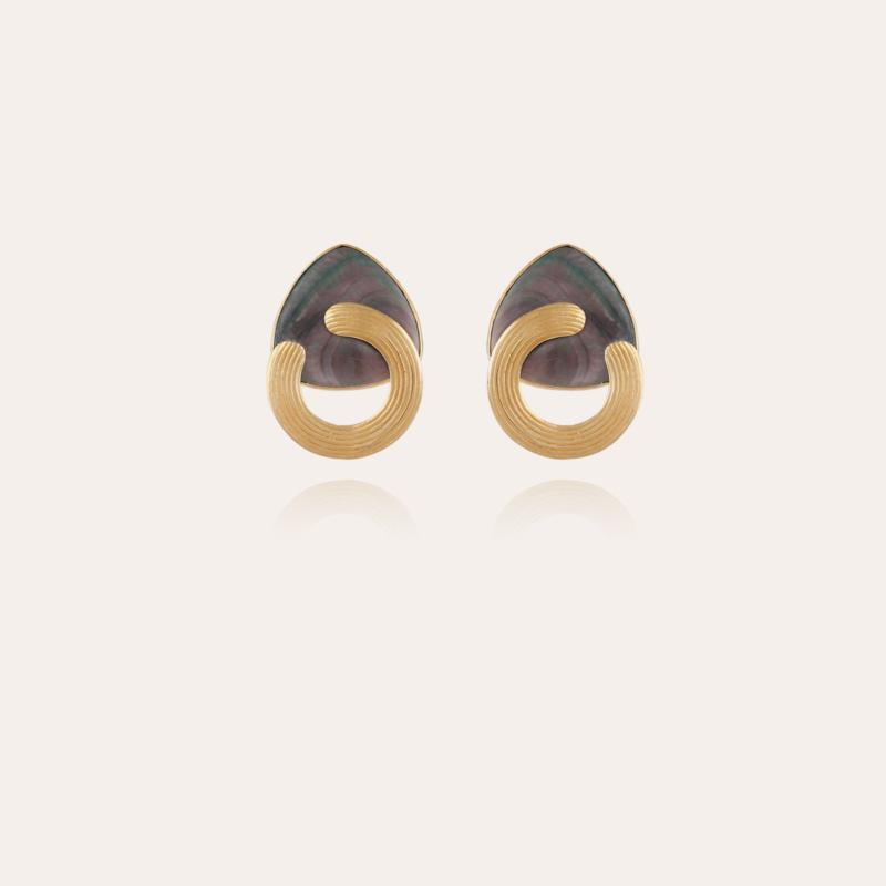 Anemone earrings gold