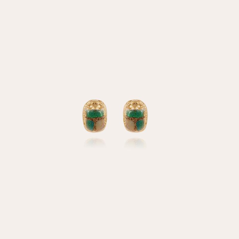 Scaramouche studs earrings enamel gold