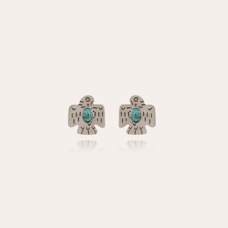 Eagle studs earrings silver