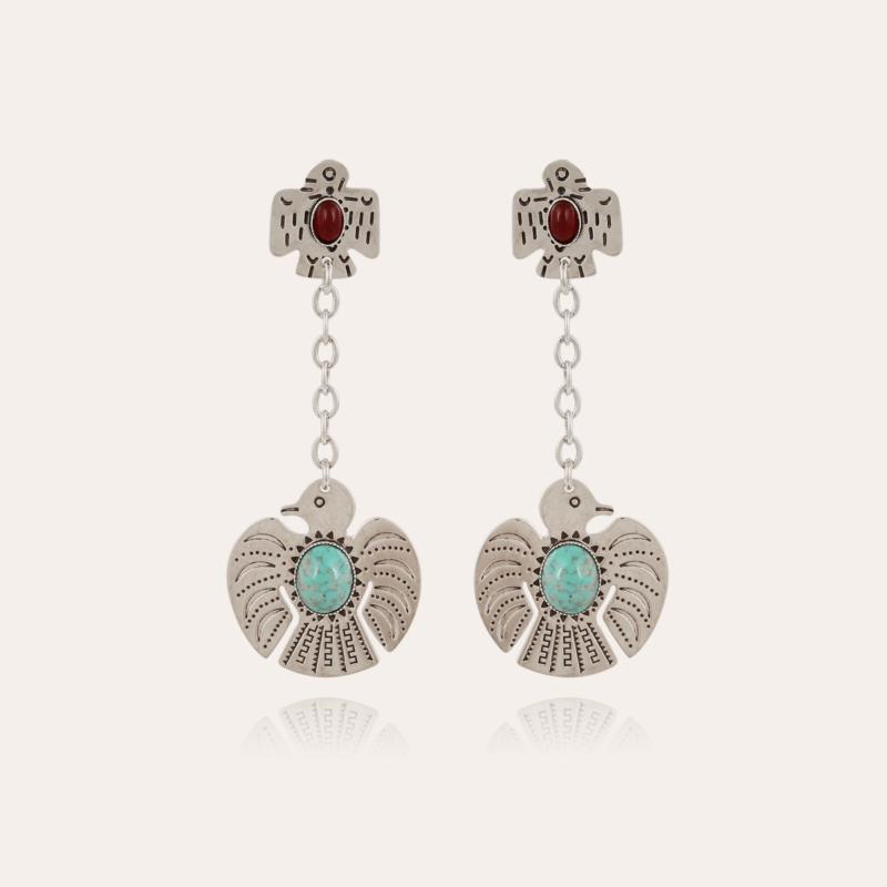 Santa Eagle earrings silver
