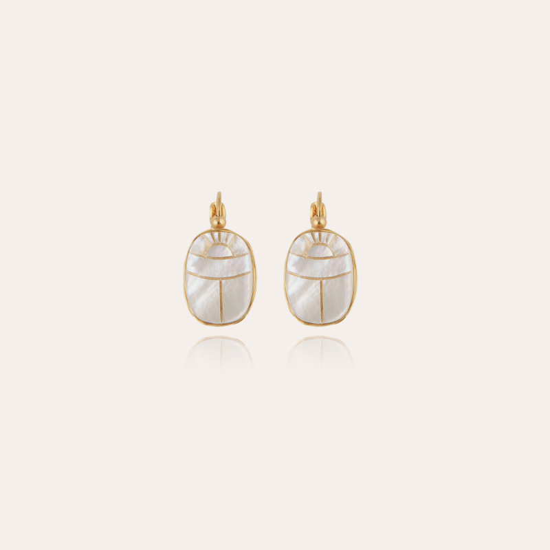 Scaramouche earrings mother-of-pearl gold