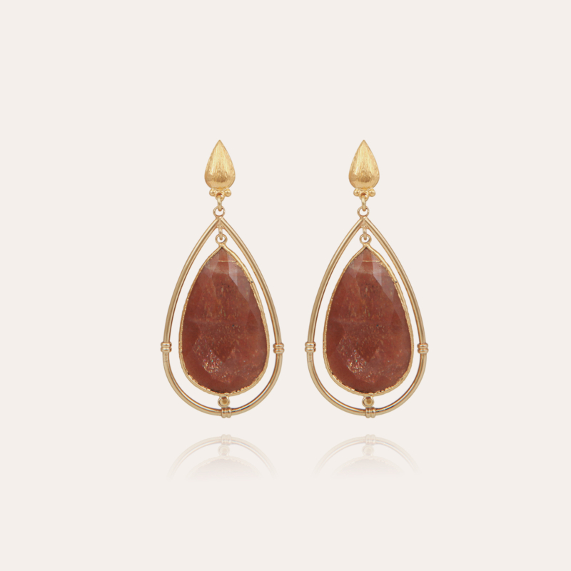 Serti Cage earrings large size gold - Exclusive piece (2 pieces)