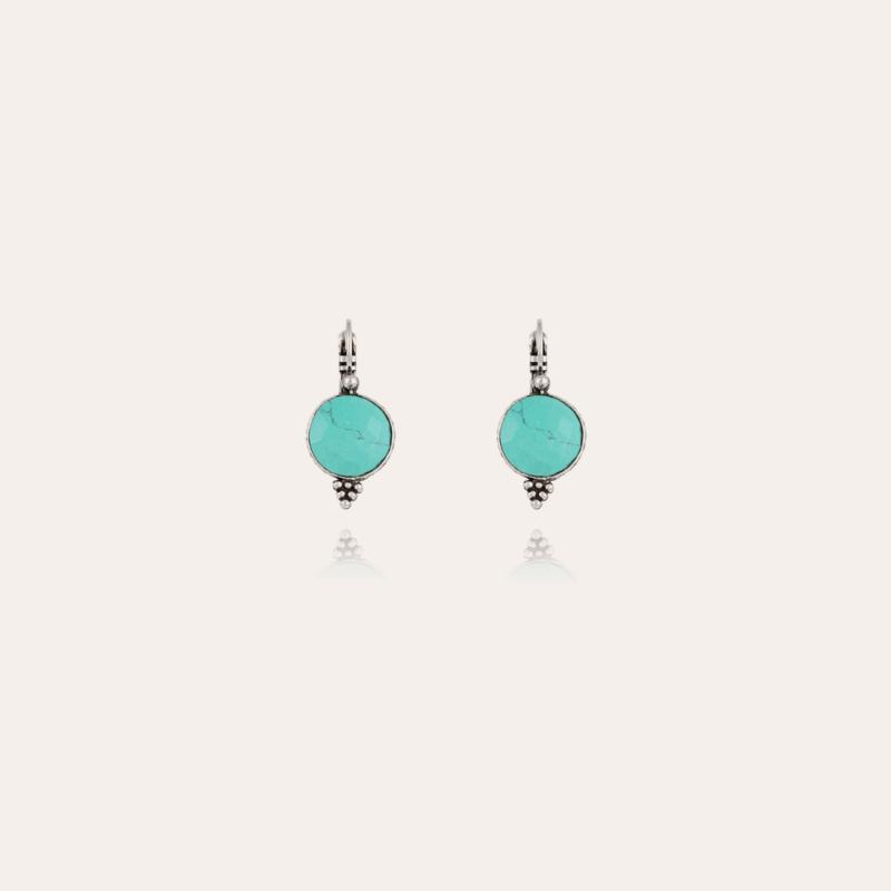 Serti earrings silver