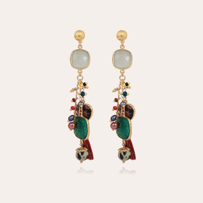 Serti Pondicherie earrings gold - Exclusive piece (2 pièces)