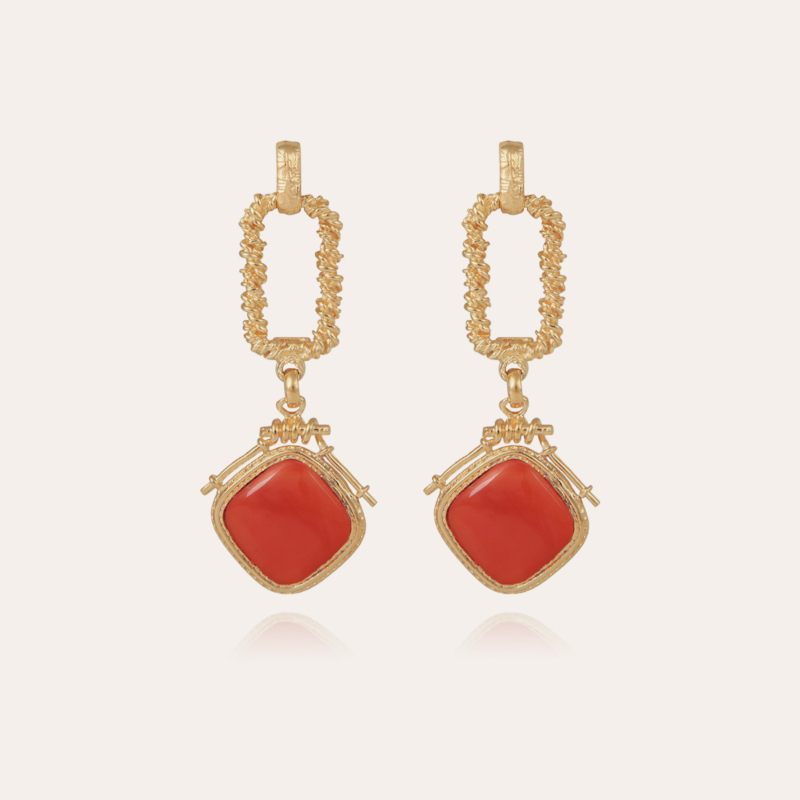 Siena earrings gold - Cornaline