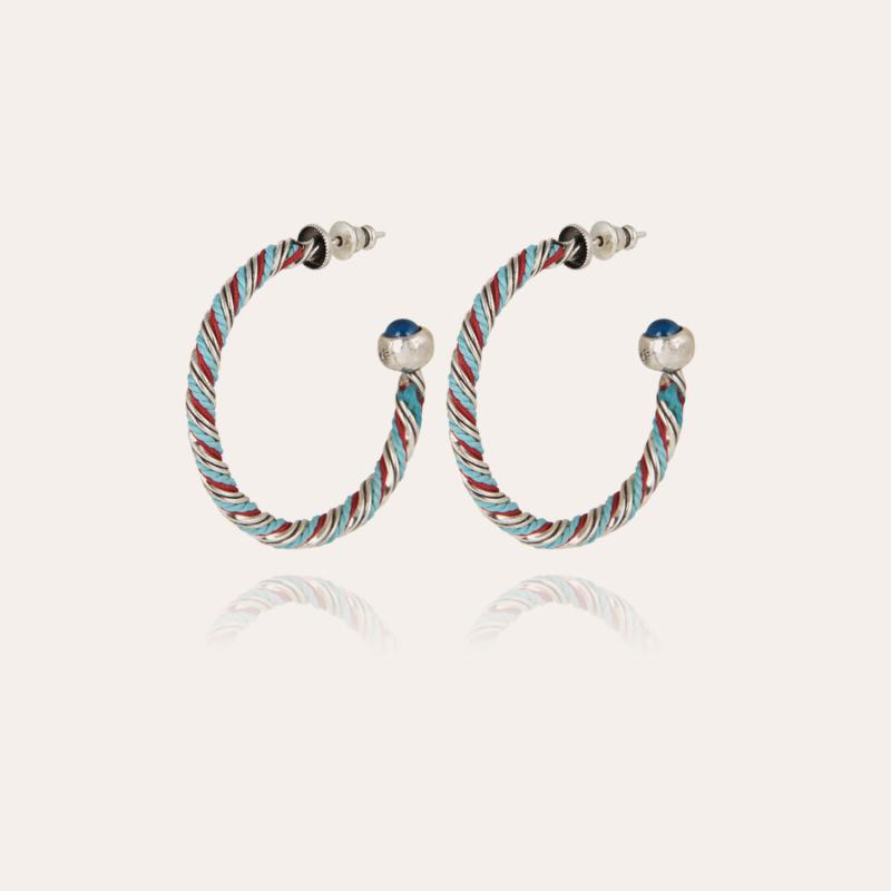 Torride hoop earrings small size silver