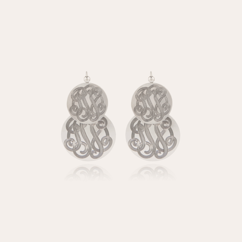 Very Diva double earrings small size silver
