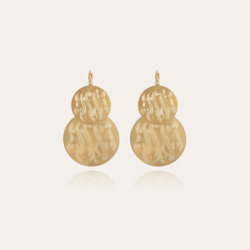 Very Diva double earrings small size gold