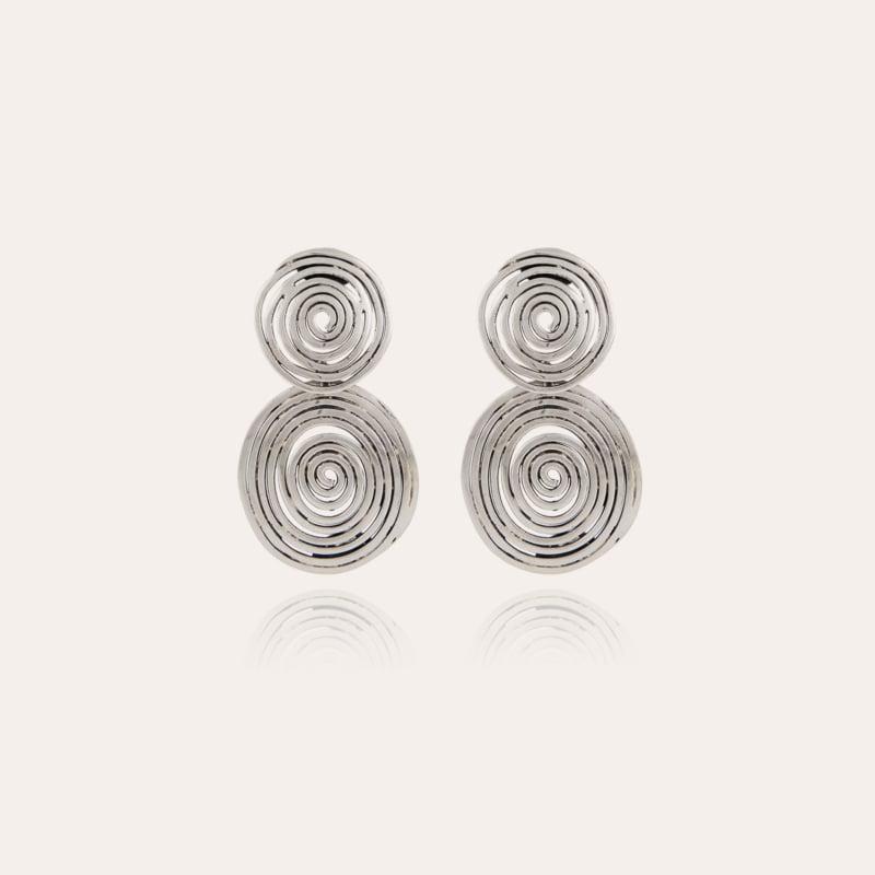 Wave earrings small size silver