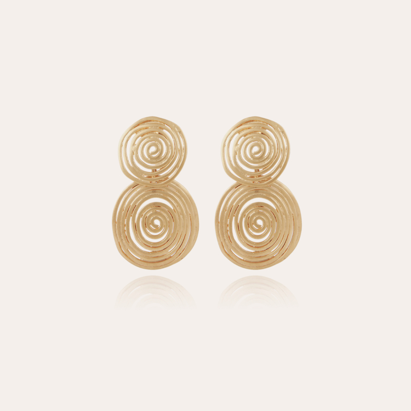 Wave earrings small size gold