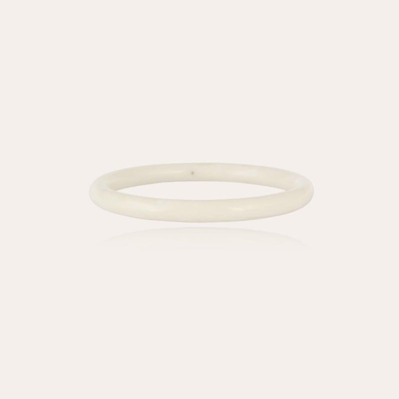 Caftan bracelet acetate gold - Ivory
