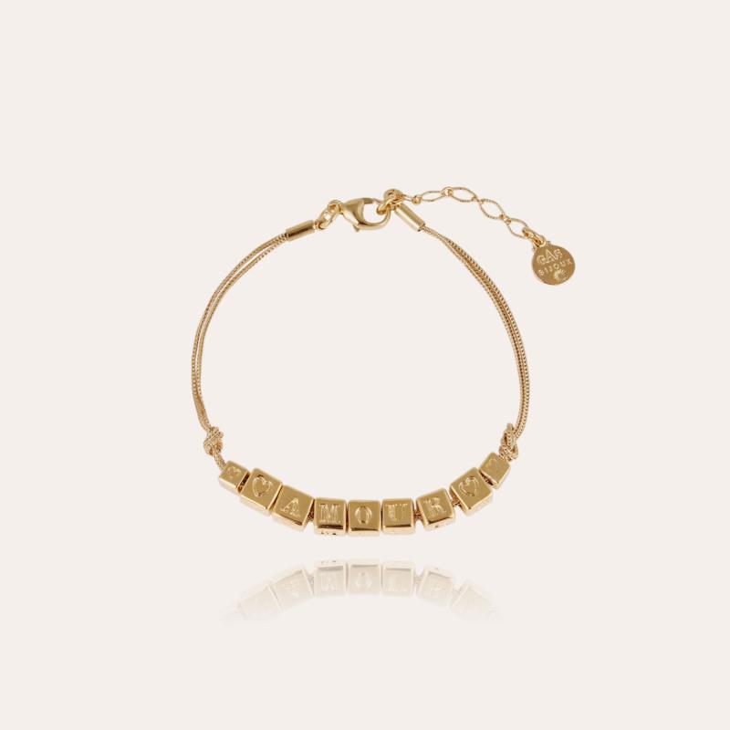 Amour Chain bracelet large size gold