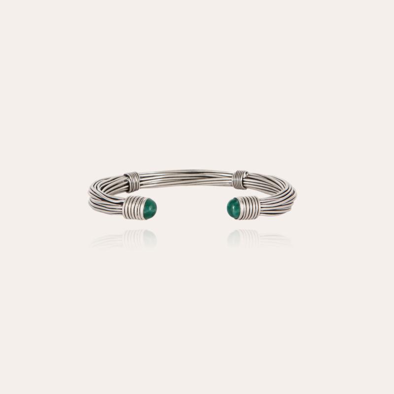 Ariane cabochons men bracelet large silver
