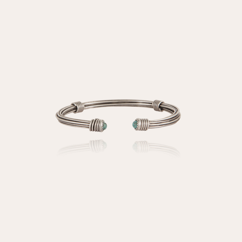 Ariane cabochons men bracelet silver