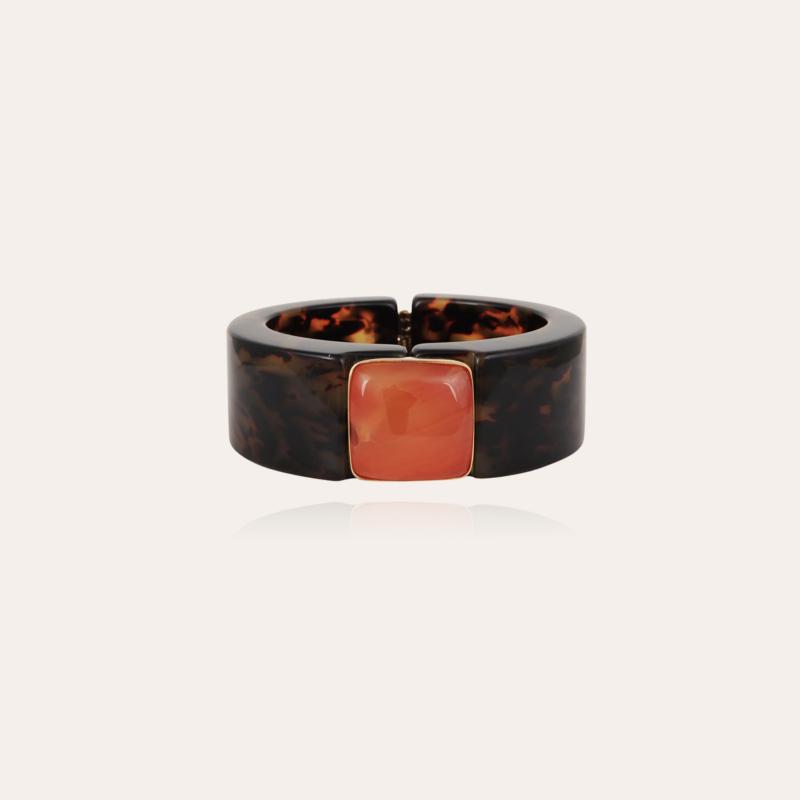 Arty Bis bracelet acetate gold - Tortoise - Exclusive piece (3 pieces)